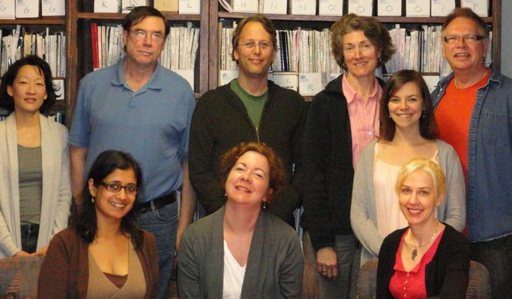 Me (between front and back row) and the Adult Playwright Program, ...
